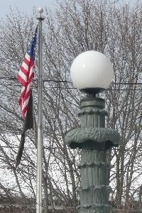 Flagpole and Light