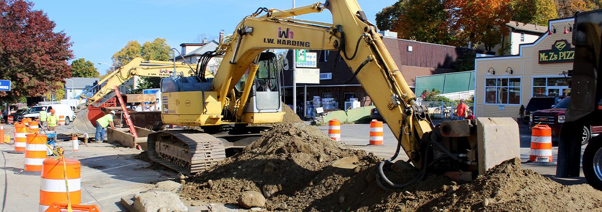 Installation of drainage on High Street